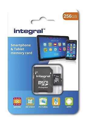 Integral 256GB Class 10 UHS-I U1 microSDXC Memory Card for SmartPhones & Tablets