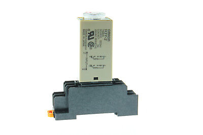 DC 24V Time Relay 0-60M Minute H3Y-2 Delay Timer & Base Socket US Shipping