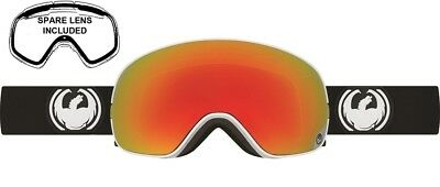 NEW Dragon X2s Inverse Black Red Ion Mens Ski Snowboard Goggles + Lens Msrp$220