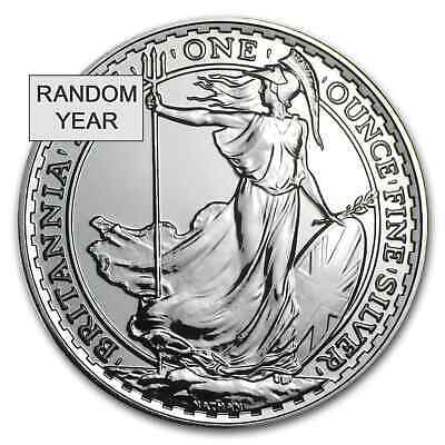 Great Britain 1 oz Silver Britannia BU (Random Year) - SKU #53532