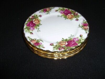 2 ROYAL ALBERT Old Country Roses 8  Inch Salad Plates MADE IN ENGLAND