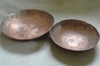 Arts and Crafts Era Eric Soderholtz Copper Bowls