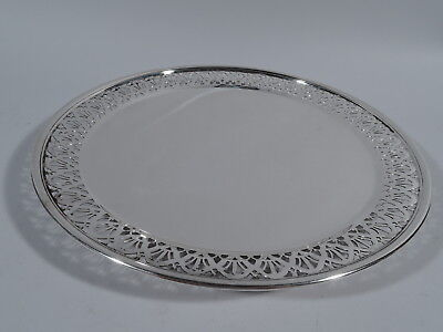 Tiffany Cake Plate - 18670B - Antique Edwardian Plate - American Sterling Silver
