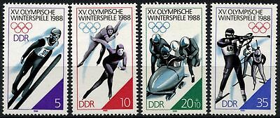 East Germany DDR 1988 SG#E2843-6 Winter Olympic Games MNH Set #D59871