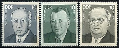 East Germany DDR 1984 SG#E2561-3 Socialist Personalities MNH Set #D59897