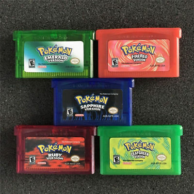 Pokemon Game Card Versions for Pokemon GBA/GBM/SP/NDS GameBoy Collection