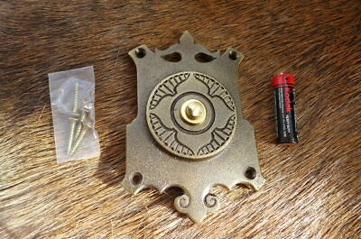 Solid Old Brass Decorative Large Push Bell Plate Project Replacement New b
