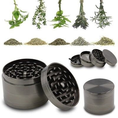 4 Piece Tobacco Herb Spice WEE D-Crusher 2 Inch Zinc Alloy Smoke Metal Grinder