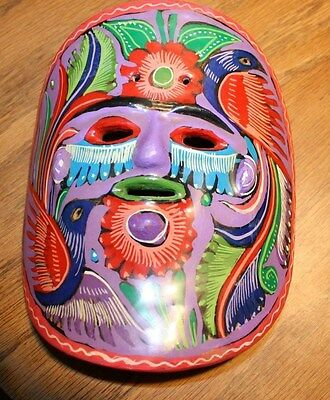 Mexican Mask in Reds and Purples