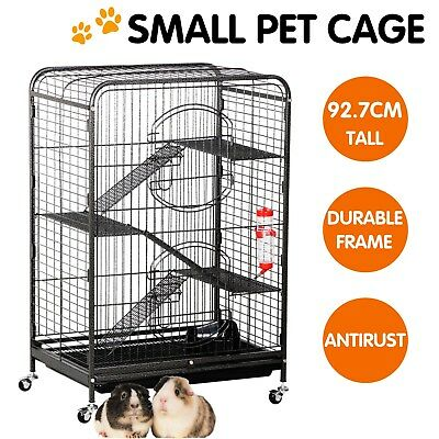 93CM 4 Level Indoor Ferret Cage Small Animals Hutch Habitat Metal w/ Feeder