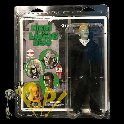 "NIGHT of the LIVING DEAD Graveyard ZOMBIE 8"" RETRO Action Figure EMCE Rare!"