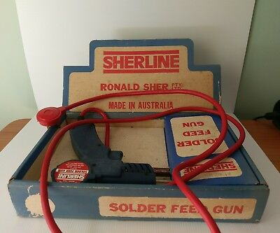 Vintage 1974 Sherline Solder feed gun 2000 with display box collectable rare