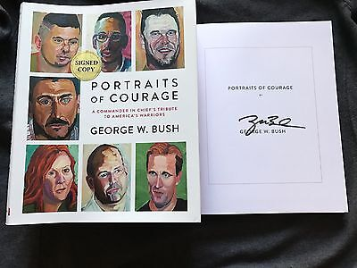 George W Bush signed book Portraits of Courage 1/1 HC/DJ 1st ed president