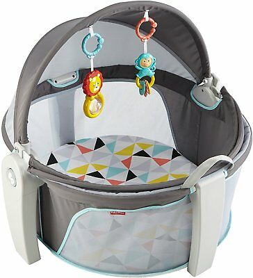Fisher-Price On-The-Go Baby Dome White Folds Portable Baby Toys Indoor Outdoor