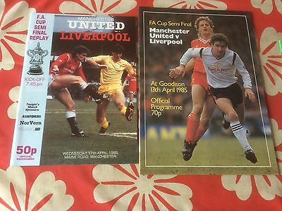 Manchester united v liverpool fa cup semi final and replay 1985