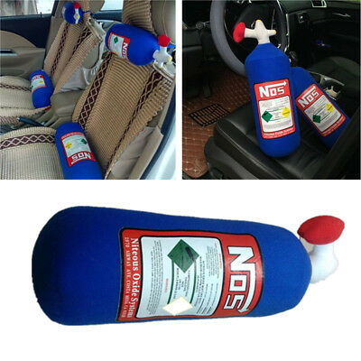 1pcs NOS Nitrous Oxide Bottle Tank Car Seat Rest Cushion Headrest Neck Pillow