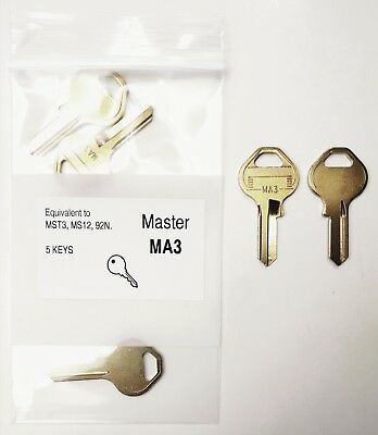 MA3 Key Blanks for Master Padlocks (5 Keys)