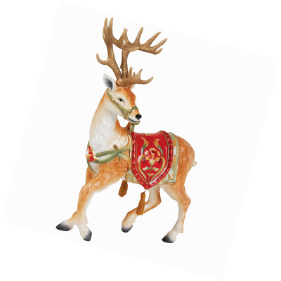 Fitz&Floyd Bellacara Deer Figurine Christmas Holiday Season Decoration Winter