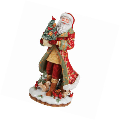 Fitz and Floyd Bellacara Santa Figurine Christmas Holiday Season Decor Winter