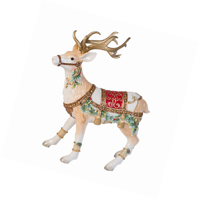 "Fitz&Floyd Yuletide Deer Figurine 17.25"" Christmas Holiday Season Decoration"