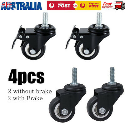 """4X 2""""(50mm) 360 Degree Swivel Caster Wheel with Brake for Shopping Carts Trolley"""
