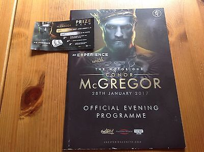 Connor McGregor MMA Official Programme Floyd Mayweather Boxing Match Ticket 2017