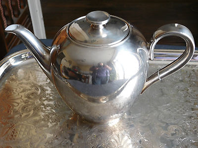 Teapot / Coffee Maker Jug Wmf Metal Silver And Porcelain Heinrich Porzellan