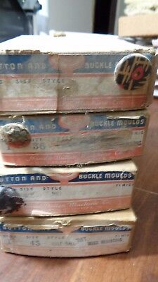 Lot of 4 Vintage HANDY BUTTON MACHINE Company Button Molds #36,40,45