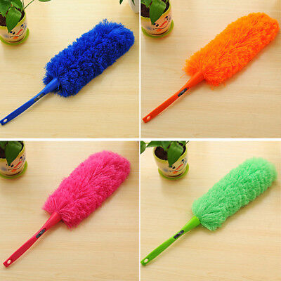Long Microfiber Cleaning Duster Dust Handle Feather Dusting Fibre Magic