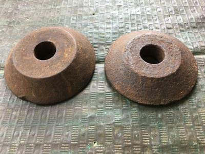 Antique Cast Iron Masonry Tie Washer Anchor Architectural Relic lot of 2