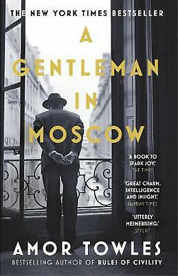 Gentleman in Moscow by Amor Towles Paperback Book Free Shipping!