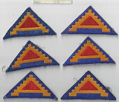 Lot of 6 - Original WW2 Patch - 7th SEVENTH ARMY - WWII Shoulder US Military USA