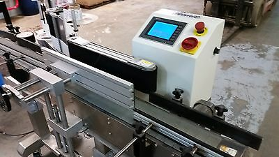 Labeler, Accutek, Labelette, APS-108, Inline Automatic Labeling System