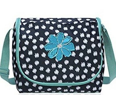 """NWT! Thirty One """"Going Places Thermal"""" Lunch Bag~ Navy Doodle Dot ~"""