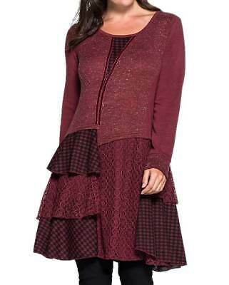 Joe Browns Damen Marken-Strickkleid, bordeaux