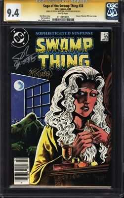Swamp Thing 33 CGC SS 9.4 signed by John Totleben & Stephen Bissette; Alan Moore