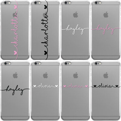 Personalised Handwritten Name See Through Clear Phone Case For Apple Iphone