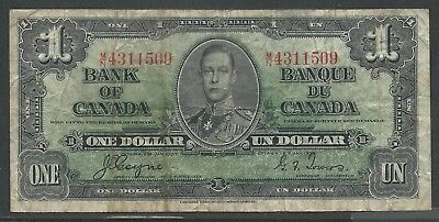 CANADA - One DOLLAR Banknote [COYNE-TOWERS] (2-Jan-1937) FINE
