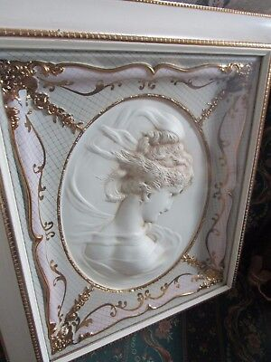 Beautiful Pair Of Victorian Framed Bust Of Gibson Girls