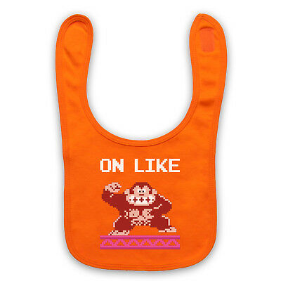 On Like Unofficial Kong Classic Video Game Donkey Funny Baby Bib Cute Baby Gift