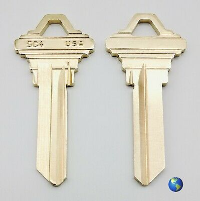 SC4 Key Blanks for Various Products by Almet, Baldwin, and Schlage (10 Keys)