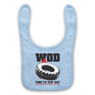 Wod Crossfit Tyre Flipping Tire Workout Of The Day Gym Baby Bib Cute Baby Gift