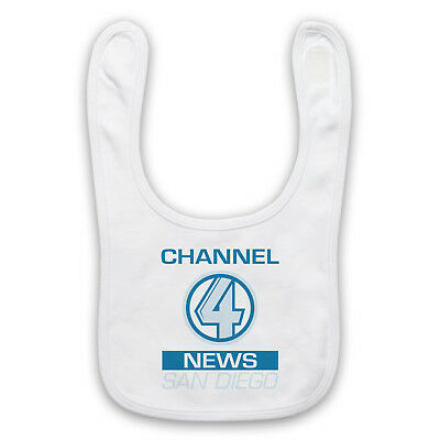 Anchorman Unofficial Channel 4 News San Diego Logo Film Baby Bib Cute Baby Gift