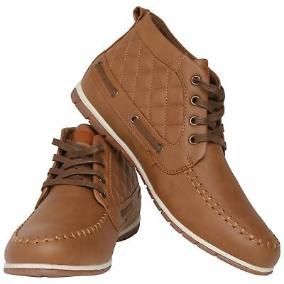 Mens New Casual Brown Formal Lace Up Shoes SIZE 6 7 8 9 10 11