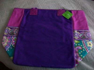 Vera Bradley Large Colorblock Tote In Heather  Nwt***