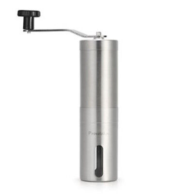 Manual Coffee Grinder, Conical Burr Mill for Precision Brewing Brushed Stainless