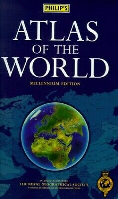 Philip's Atlas of the World (World Atlas) by N/A Hardback Book The Cheap Fast