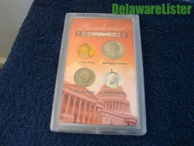 American  4 Coin Treasures Presidential Proof Collection Set Display Case #4225