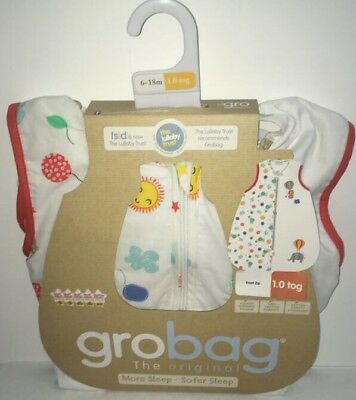 The Gro Company - Drift Off Baby Grobag Sleeping Bag Sack Cotton - 6-18m 1.0 Tog
