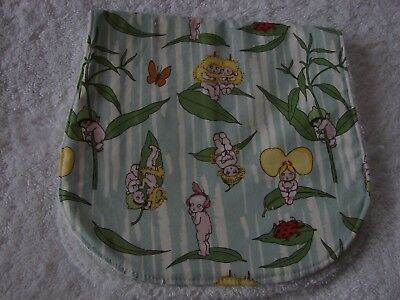 Gumnut Babies Green Burp Cloth Handmade